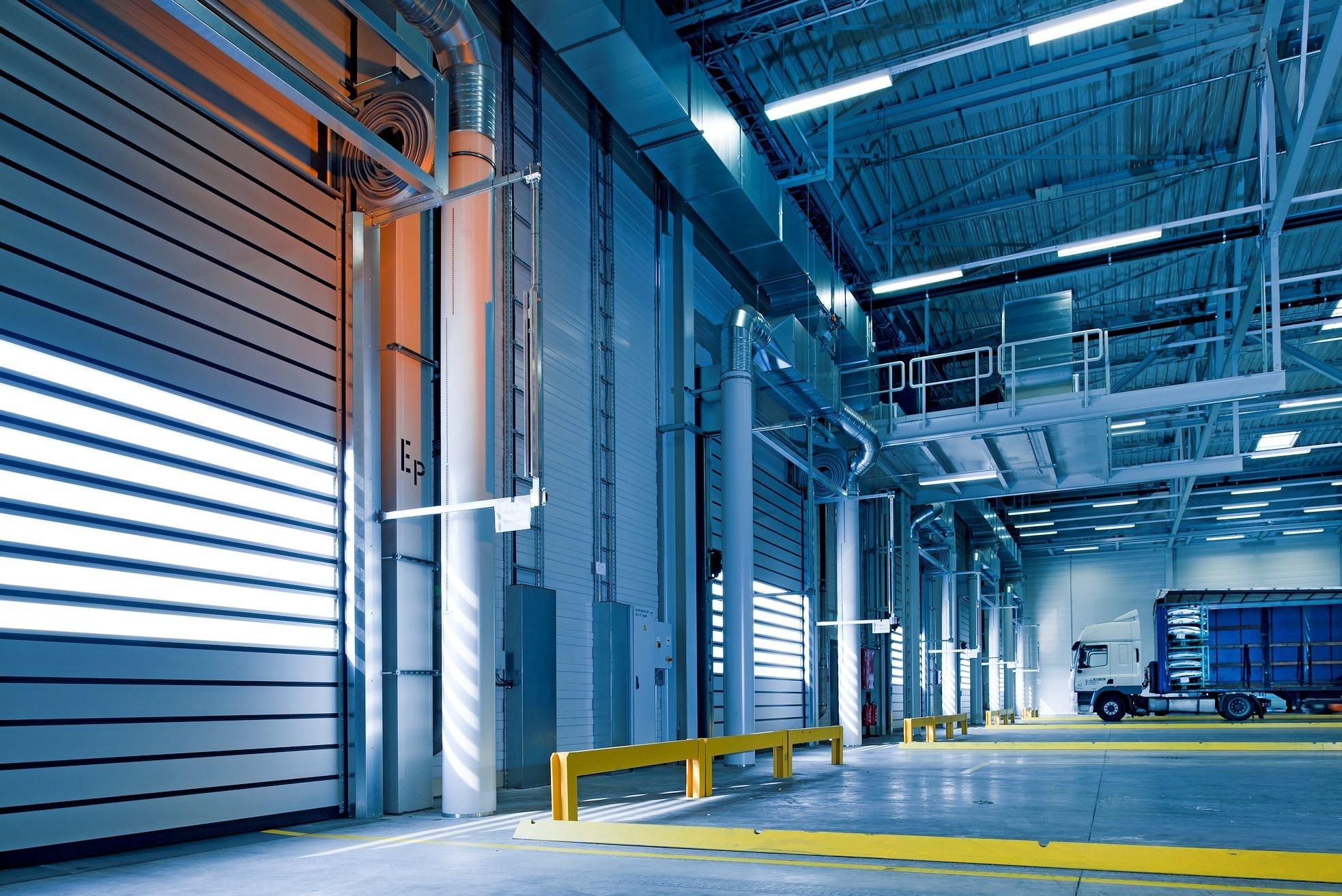 industrial warehouse garage area