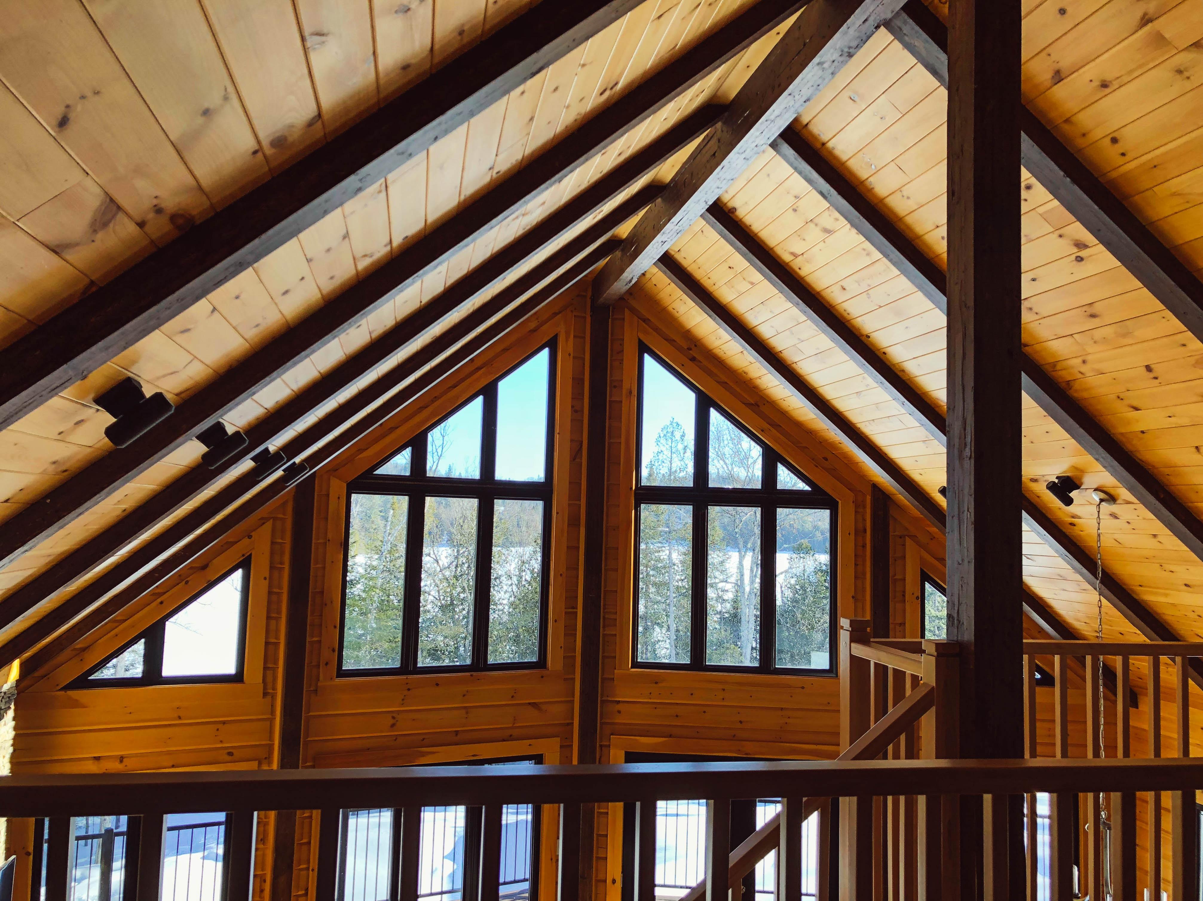 wood cabin loft