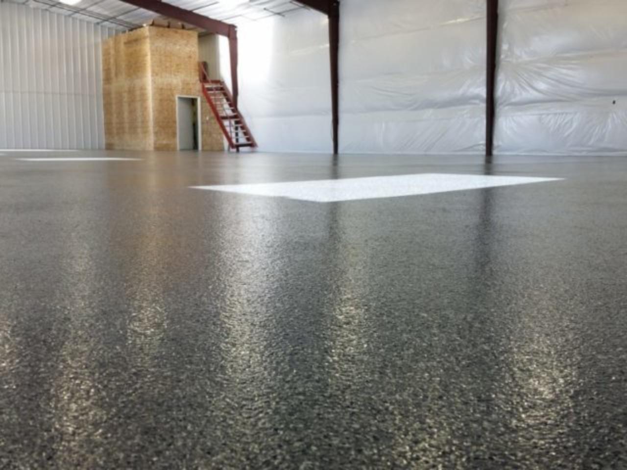 warehouse floor black epoxy paint