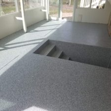 Floor coating interior space, grey